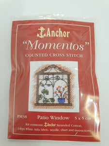 Patio Window Mini Cross Stitch