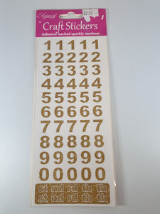 Gold Self Adhesive Numbers