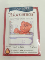 Load image into Gallery viewer, Teddy in Bath Mini Cross Stitch