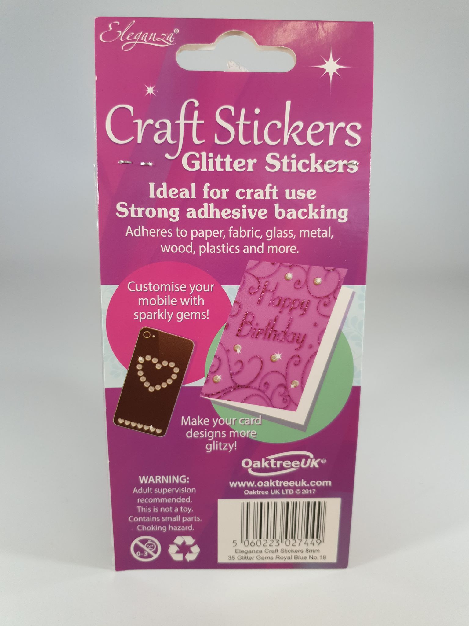Royal Blue Glitter Stickers