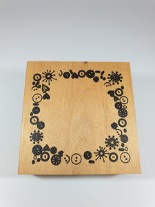 Buttons Rubber Stamp