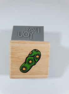 Flip Flop Rubber Stamp