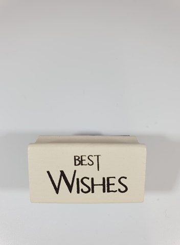Best Wishes Rubber Stamp