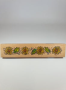 Rubber Flower Stamp