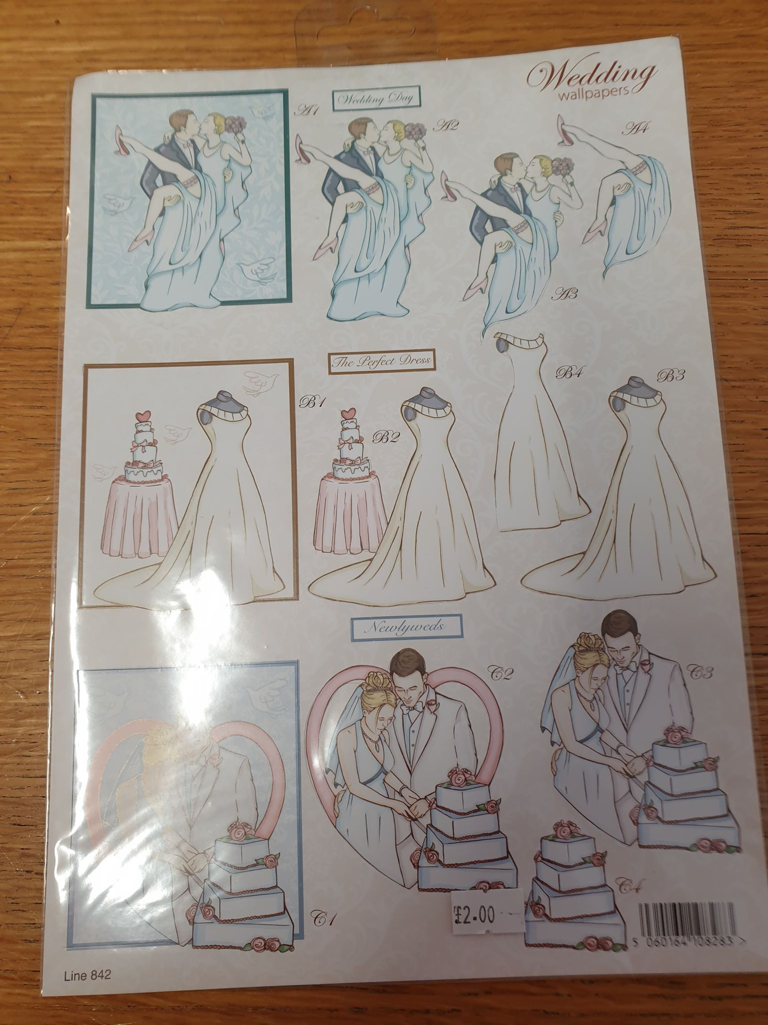 Wedding Decoupage Sheet