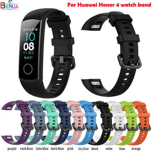 sport silicone watch band For Huawei Honor 4/Honor 5 smart watch wristband Replacement Original soft fashion strap Bracelet band