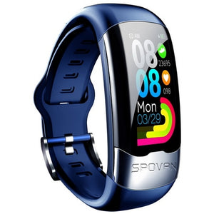 SPOVAN smart watch men sport digital fitness watches heart rate monitor blood pressure bracelet health smartwatch ECG,HRV,PPG