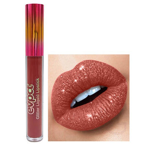 Fashion Diamond Glitter Matte Metal Liquid Lipstick Lip Gloss for Women Girls Ladies Makeup Tools