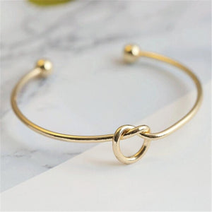 2019 Hot New Fashion Adjustable Crystal Double Heart Bow Bilezik Cuff Opening Bracelet For Women Jewelry Gift Mujer Pulseras