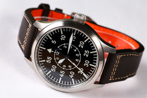 【Escapement Time】Automatic NH35 Movement Pilot Watch with Type-B or Type-A Black Dial and 42mm Case waterproof 300M