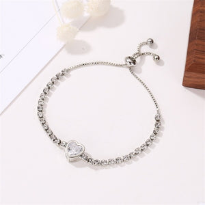 Hot Luxury Rose Gold Stainless Steel Bracelets Bangles Female Heart Wedding Love Brand Charm Bracelet for Women Famous Jewelry
