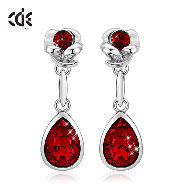 Red Water Drop Earrings