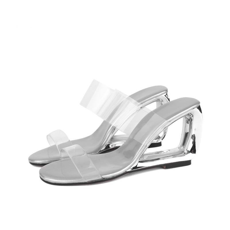 Transparent Wedge Heels Sandals