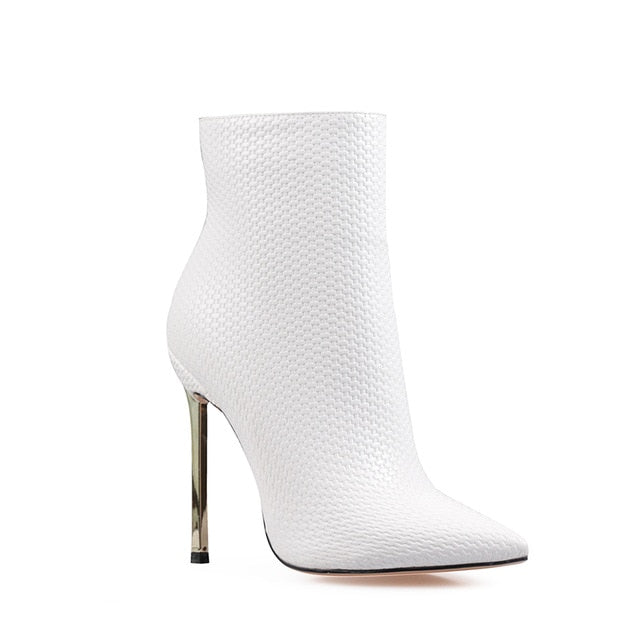 Sexy Woven Ankle Boots