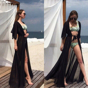 Sexy Beach Cover Up Women Dress Tunic Pareos Ladies Kaftan Robe Cover-up Woman Beach Wear Swimsuit