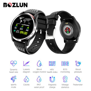 Bozlun W3 Smartwatch Blood Pressure Oxygen Heart Rate Monitor Health Fitness Tracker Smart Bracelet For Huawei IOS Android
