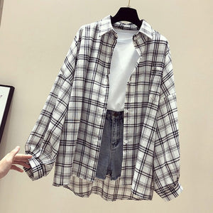 Summer Half Batwing Sleeve Shirts Women Pockets Button Plaid Female Shirt Blusa Mujer 2020 Spring Plus Size Tops Ladies Clothing