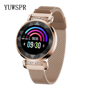 Smart Women Watches Health Tracker 3D Diamond Glass Calories Heart Rate Blood Pressure Sleep Monitor Waterproof Watch SL08