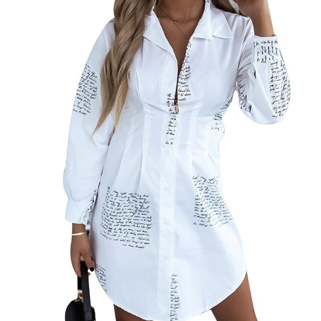 Women Tops Spring Long Sleeve Letter Printed High Street Style Shirts V Neck Clothes Female Vertical Clothing Fashion Casual