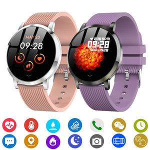 Bluetooth Smart Watch For Women Support Heart Rate Blood Pressure Monitor Health Tracker Watches Sport Fitness Digital Clock