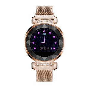 3D Rhinestone Alarm Clock with Sedentary Reminder Sport Health Monitor Fitness Activity Tracker For Ladies Girls Smart Watch