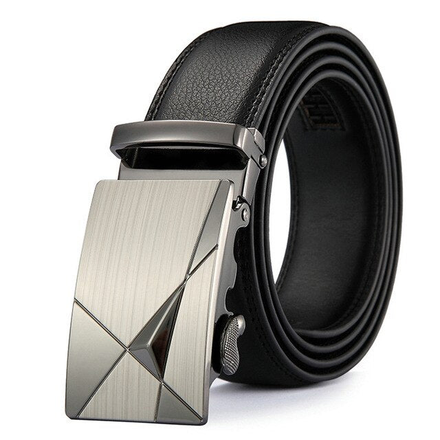 DINISITON Men belt Genuine Leather Belts For Man Fashion Automatic Belts High Quality Business Male Strap Luxury Brand Belt