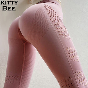 Sexy High Waist Gym Seamless Leggings Sport Women Fitness Yoga Pants Elastic Nylon Breathable Workout Running Tights Sports Wear