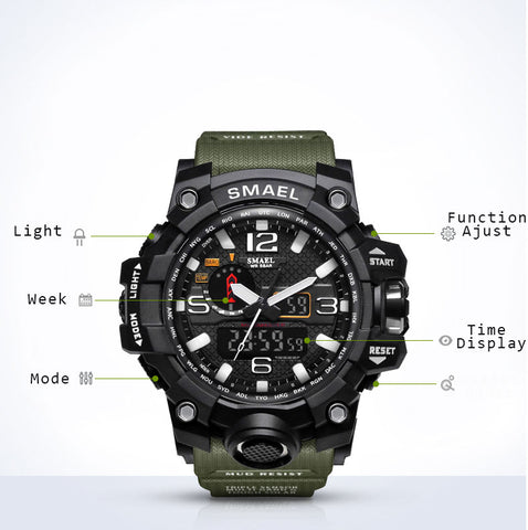 detailed features of the watch