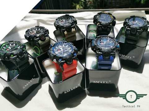 group of sports watches with gift boxes