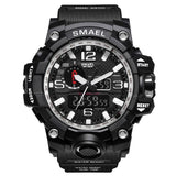 Men's Sports Watch Dual Display Waterproof Digital with LED Backlight