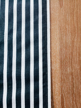 Load image into Gallery viewer, Black and White Striped Table Runner