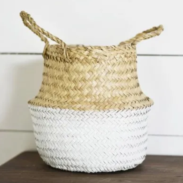 Seagrass Basket White Base