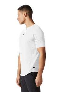 Legend Henley | Short Sleeve in Soft Slub Jersey