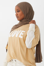 Load image into Gallery viewer, love-powerfully-print-in-camel_6_Rahima_all