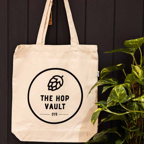 Black Logo Tote Natural