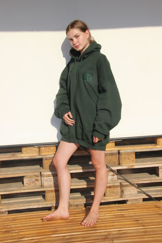 my personal favourite, the green sustainable hoodie because we love the nature and we're proud enough to admit it