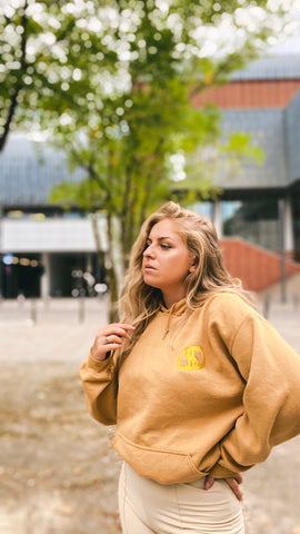 the gold superb hoodie for the sustainable hoodie with extravaganz