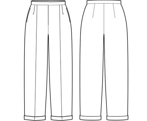 the cut of the pants