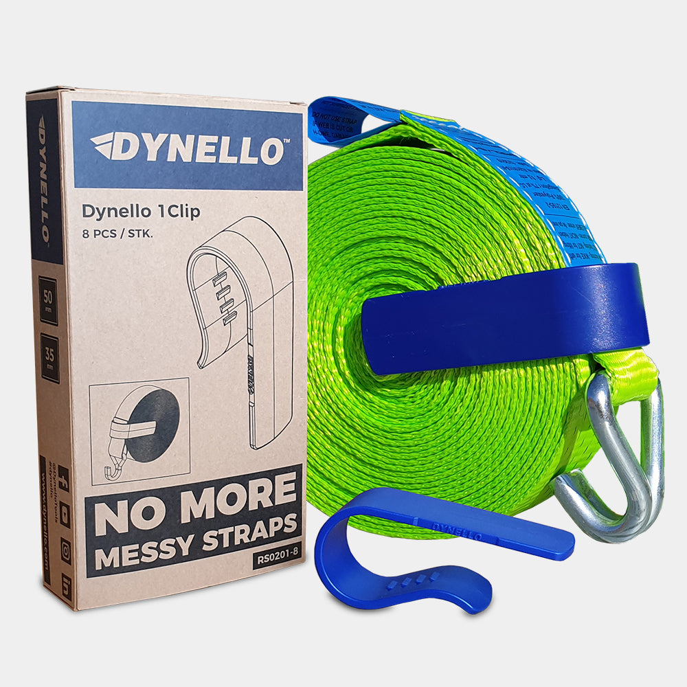 dynello 1clip pack for ratchet strap storage