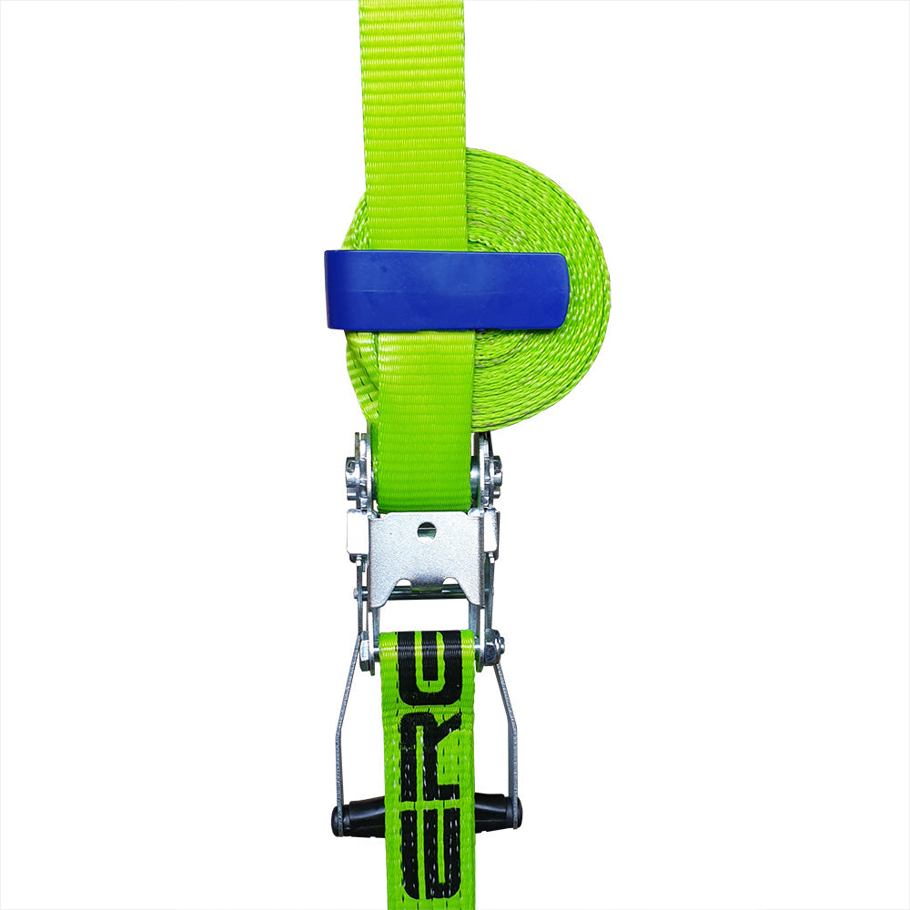 ratchet strap with dynello 1clip rear view