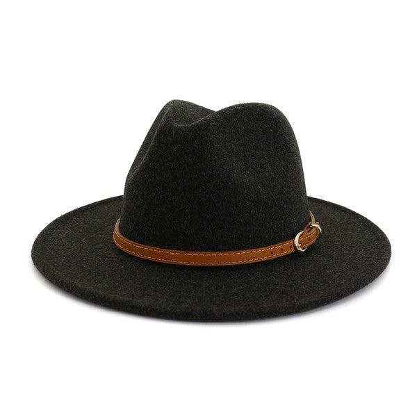 Sweetheart Felt Panama Hat - Black