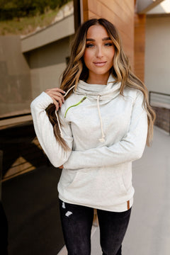 Ampersand   Basic Double Hoodie   Grey, Hint of Lime