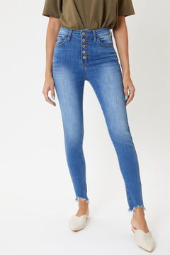 High Rise Button Fly Skinny Jeans | KanCan