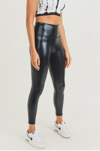 Glossy Liquid High Waist Leggings