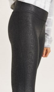 Crackle Glaze Foil High Waist Leggings