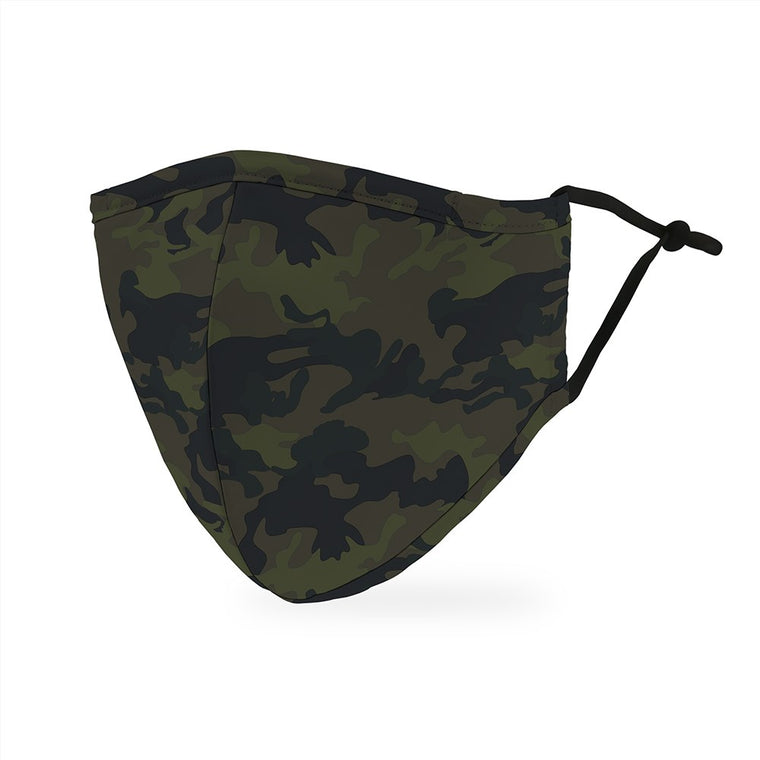 ADULT Reusable, Washable Mask with Filter Pocket - Camo