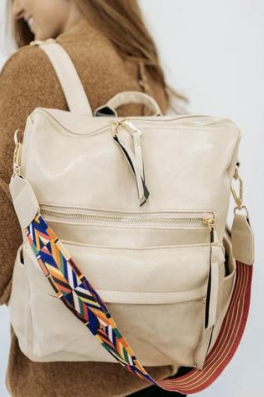 The Lifestyle Backpack Purse - Bone