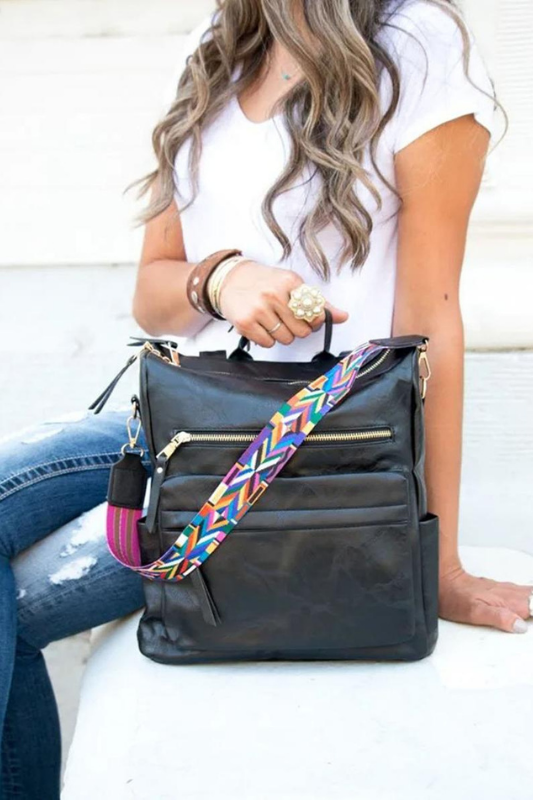 The Lifestyle Backpack Purse - Black