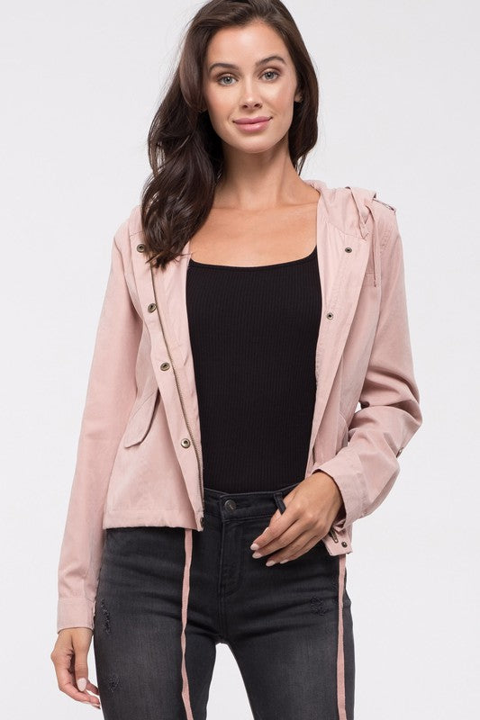 Comes To This Hooded Jacket - Blush