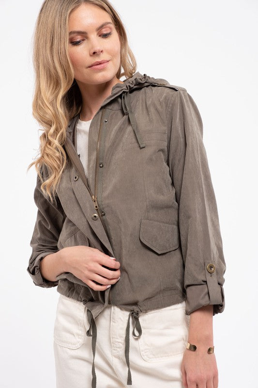 Comes To This Hooded Jacket - Olive